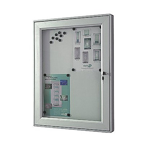 Outdoor Lockable Magnetic Notice Board (12xA4)