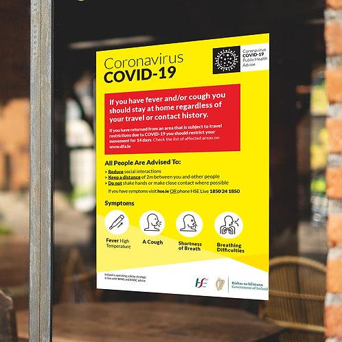 Coronavirus COVID-19 Large Posters/Signs - INFORMATION