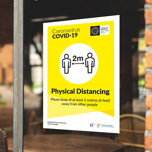 Coronavirus COVID-19 Large Posters/Signs - PHYSICAL DISTANCING