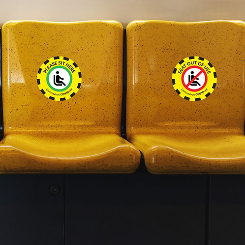 Coronavirus COVID-19: Chair stickers