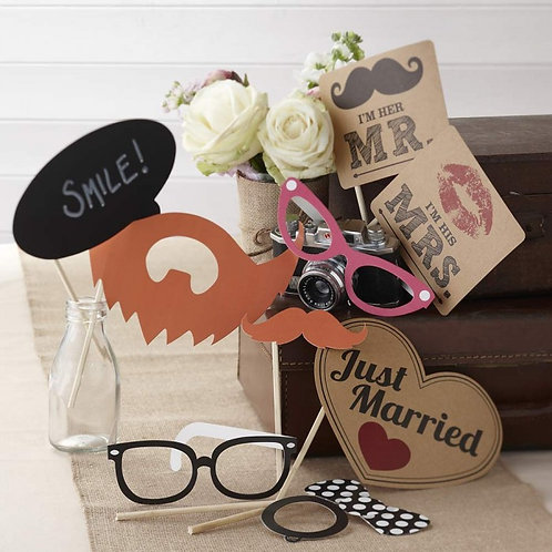 Photo Booth Props Kit - Vintage Affair