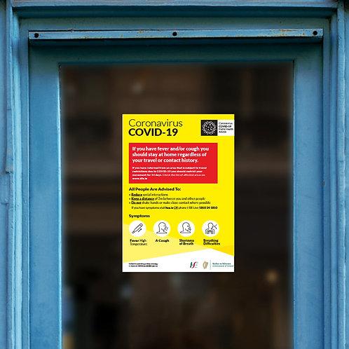 Coronavirus COVID-19 Small Posters/Signs - INFORMATION
