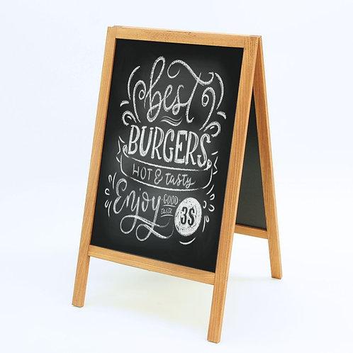 Wooden A-Board Hardwood Outdoor Chalkboard 46x68cm