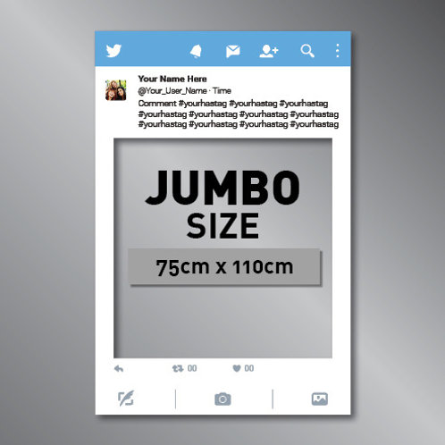 Twitter Frame Cut Out Photo Prop - JUMBO
