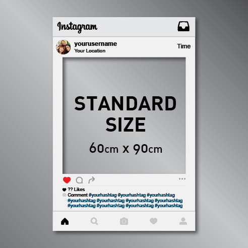 Instagram Frame Cut Out Photo Prop (60x90cm) | Print | Ireland ...