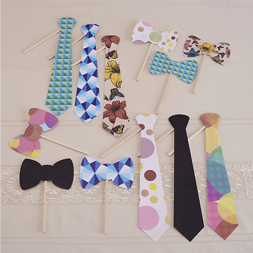 Ties & Bowties Photo Booth Props - Vintage Affair