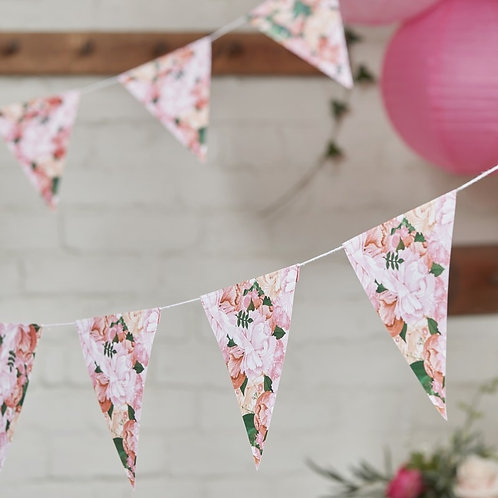 Floral Paper Bunting - Boho
