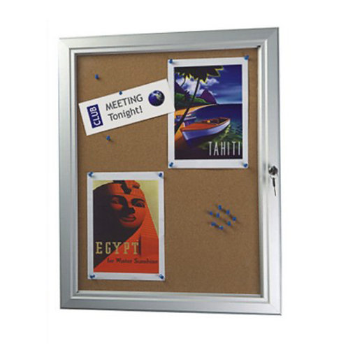 Outdoor Lockable Cork Noticeboard (9 x A4)
