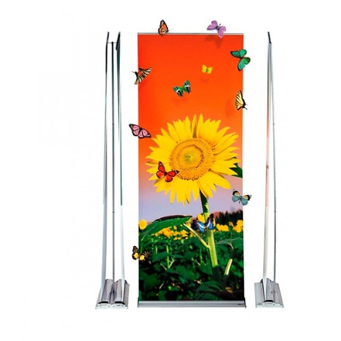 Double Sided Roll-Up Stand