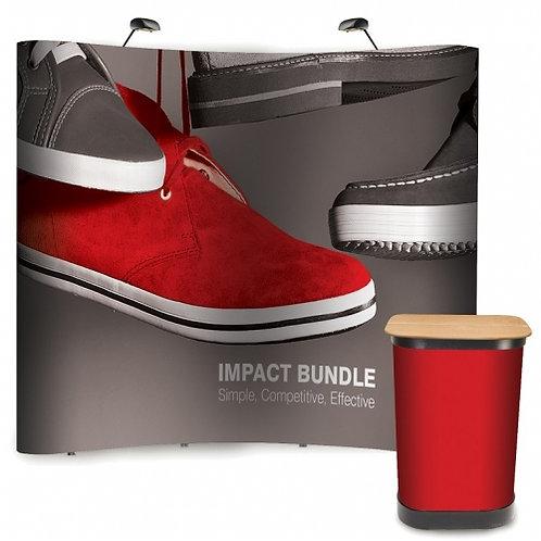 Impact Pop-up Backdrop Bundle (3x3)
