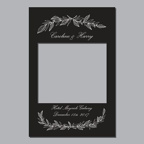 Wedding Frame Photo Prop - Classic Black