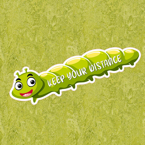 Creche/School: Social Distancing Caterpillar Floor Sticker
