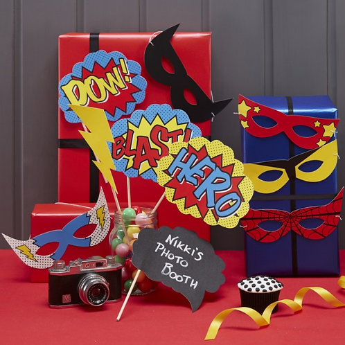 Photo Booth Props - Comic Superhero