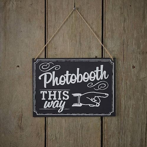 Chalkboard Wooden Photobooth Sign - Vintage Affair