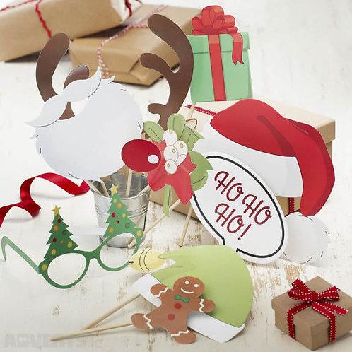 Christmas Photo Booth Kit - Vintage Noel