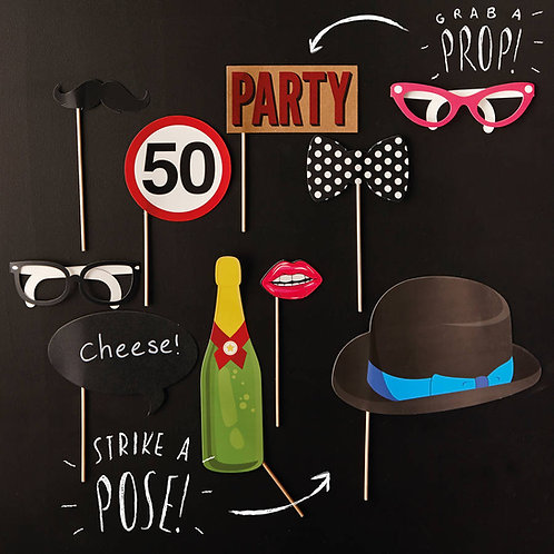 Photo Booth Props - 50th Birthday Party