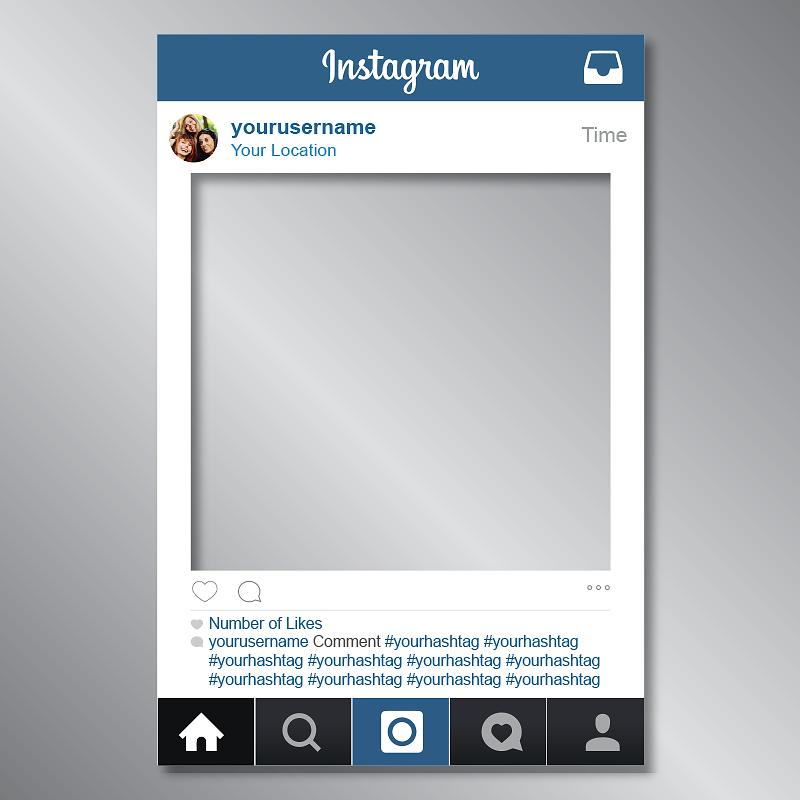 Instagram Frame Cut Out Photo Prop (60x90cm)