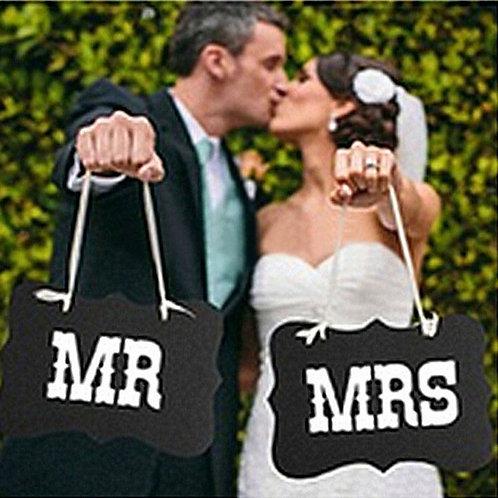 Mr & Mrs Cardboard & Ribbon Props