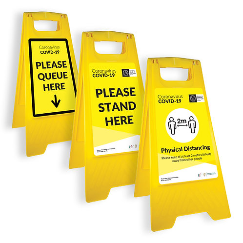 Coronavirus COVID-19: Fold-out Free-standing Floor Sign