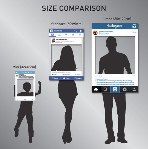 HEN Instagram Frame Prop 90x60cm