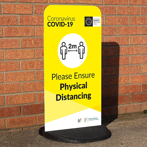 Coronavirus COVID-19: Flex Panel Pavement Sign