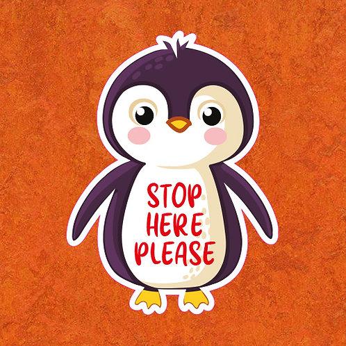 Creche/School: Social Distancing Penguin Floor Sticker