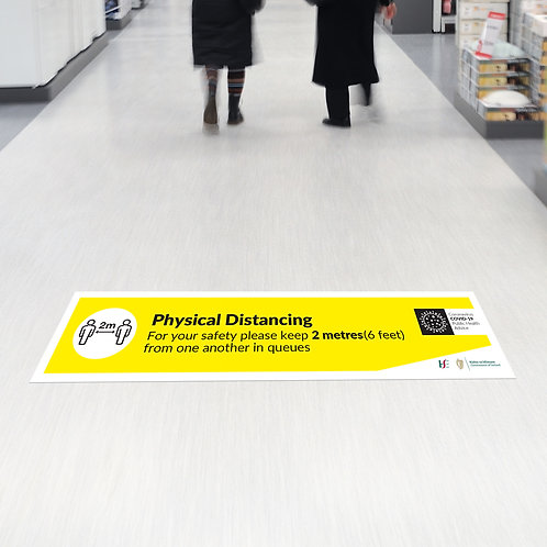 Coronavirus COVID-19: Physical Distancing Floor Stickers