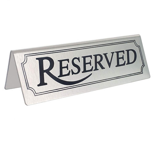 Stainless Steel Reserved Table Signs