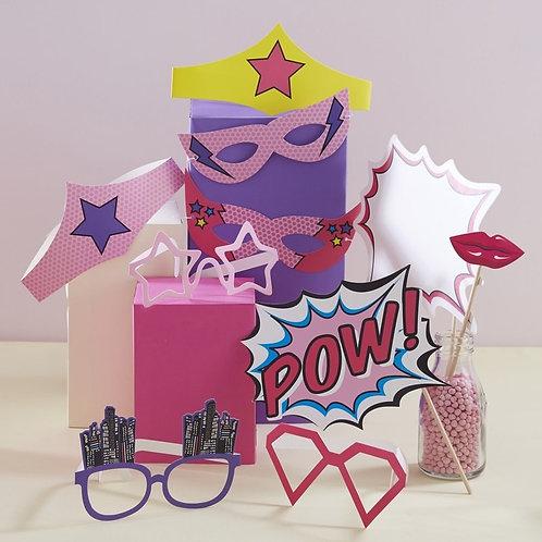 Photo Props & Masks - Pop Art Superhero Party
