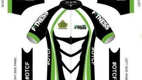 OTCF Men's Short Sleeve Cycling Jersey White Design