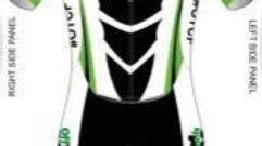 Men's Short Sleeve Tri Suit Black Design