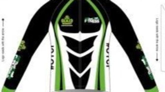 Men's Thermal Long Sleeve Cycling Jersey Black Design