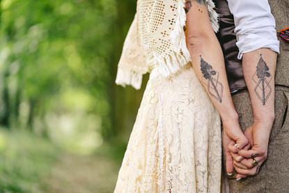 Christin and Gareth Martin's Wedding Rings