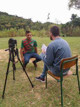 Romário Silveira da Silva, timidez que contrasta com a personalidade polêmica do xará famoso. Foto: Isadora Manerich.