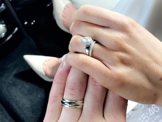 Zoe and Aaron Smyth's Wedding Rings