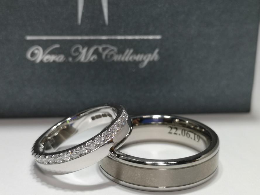Martina and Jonathan Reid's Wedding Rings