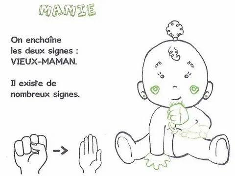 Langage signé -Mamie
