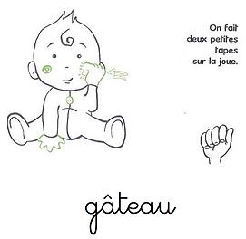 Langage signé- Gateau