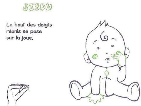 Langage signé- Bisou