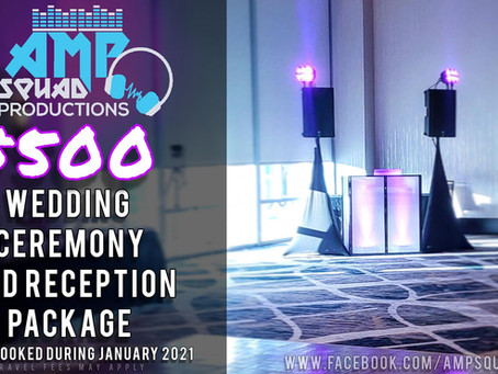 2021 WEDDING DJ PACKAGE