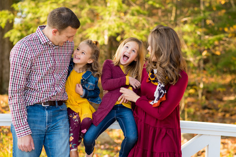 Special family session at Pineland Farms ~ Fall Family Portraits ~ Patience Cleveland Photography