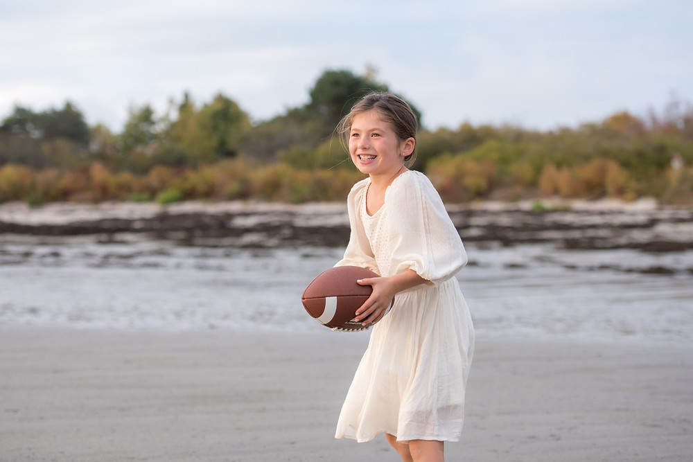 girl with football