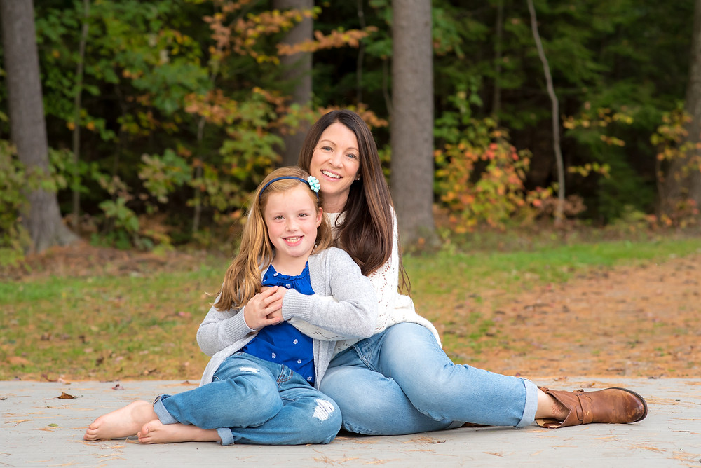 family pictures fall in Maine