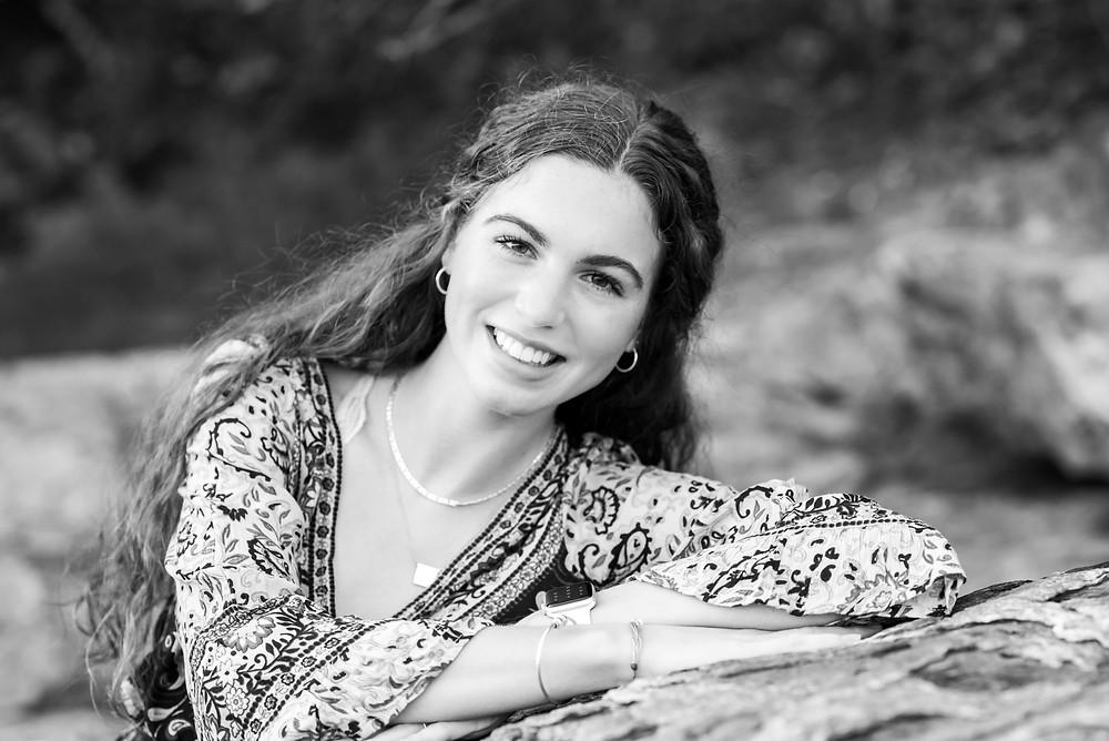 HS senior girl, portraits coastal