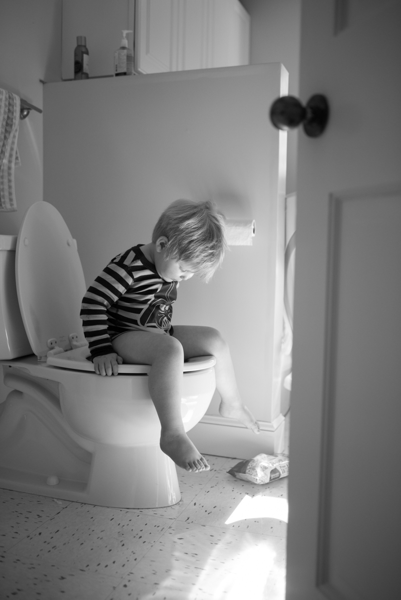 little boy on potty