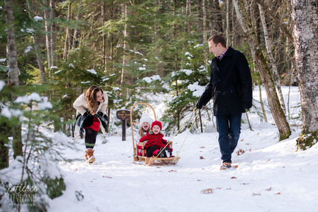 Winter Dream Session in Maine ~ Family Session ~ Maine Family Photographer