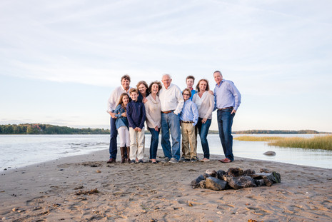 Extended Family beach session ~ Maine Families ~ Patience Cleveland Photography