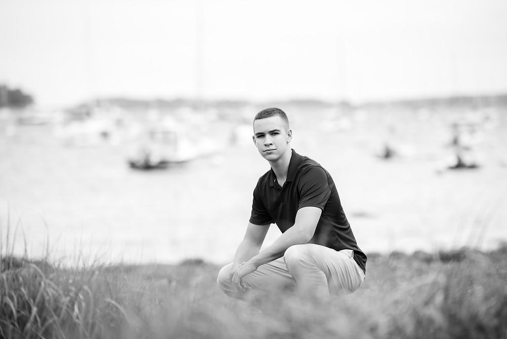 senior on beach