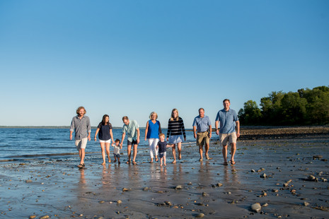 "Glorious evening with the extended ""Y"" family ~ Lincolnville Beach, Maine ~ Patience Cleve"