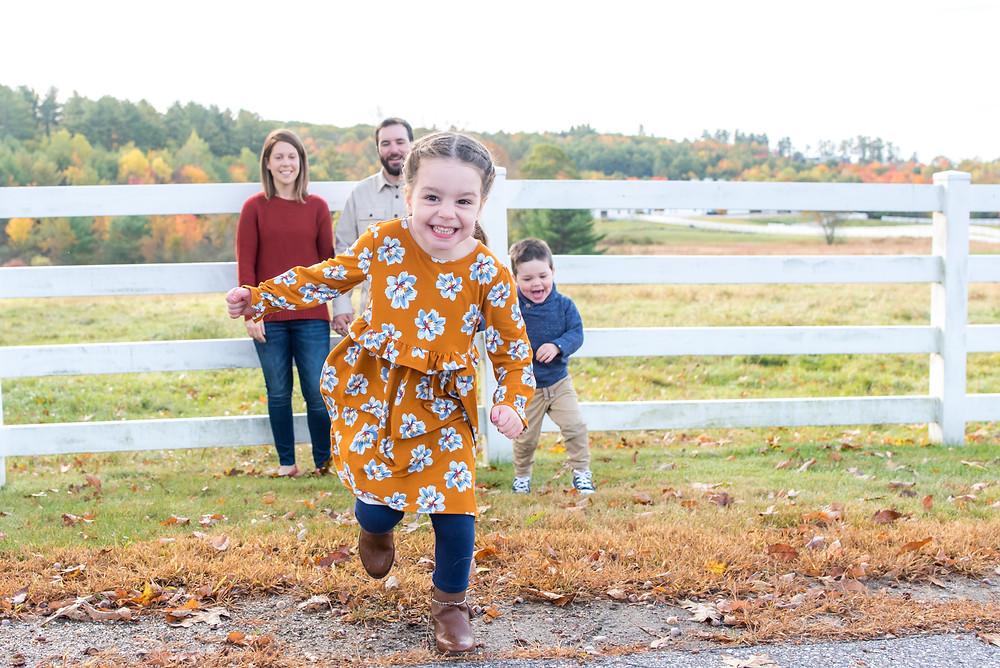 girl running from family